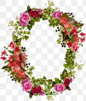 Summer Wine Border List - Flower Floral Design Rose Picture Frames Clip Art PNG