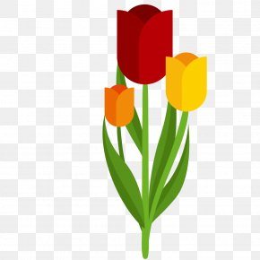 Hand-painted Tulip Vector - Tulip Euclidean Vector Illustration PNG