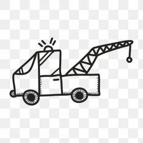Design Element - Crane Truck Transport Car Image PNG