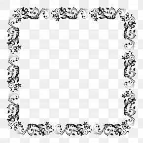 Floral Border - Picture Frame Clip Art PNG