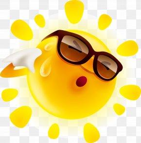 Cartoon Sun - Perspiration Summer Sun Illustration PNG