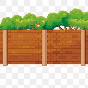 Vector Orange Wall - Wall Euclidean Vector Orange Fence PNG