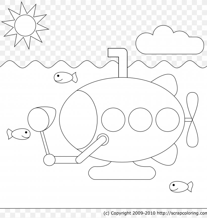 - Coloring Book Yellow Submarine Coloring Pages For Christmas, PNG,  3600x3780px, Watercolor, Cartoon, Flower, Frame, Heart Download