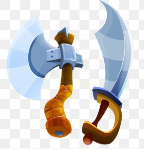 Ax And Broadsword - Axe Cartoon Weapon PNG