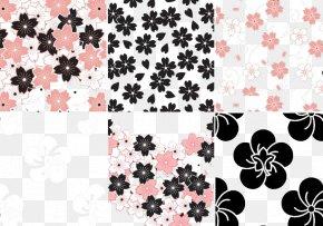 Sakura Flower Pattern Vector Pack - Cherry Blossom Flower Pattern PNG