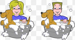 Dog Washing Cliparts - Yorkshire Terrier Dog Grooming Bathing Clip Art PNG