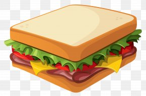 Sandwich Clipart Vector Picture - Hamburger Hot Dog Submarine Sandwich Peanut Butter And Jelly Sandwich Clip Art PNG