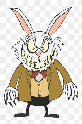 Alice In Wonderland Cartoon Rabbit Clip Art - Rabbit Easter Bunny Clip Art Cartoon PNG