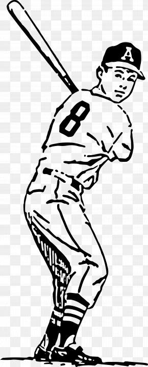 Old Baseball Cliparts - Baseball Bat Batting Baseball Field Clip Art PNG