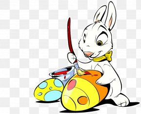 Easter Egg Bunny - Easter Bunny Easter Egg Rabbit Clip Art PNG