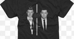 T-shirt - T-shirt Black Sleeve Tuxedo White PNG