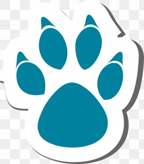Blue Cat's Claws - Dog Cat Paw Clip Art PNG