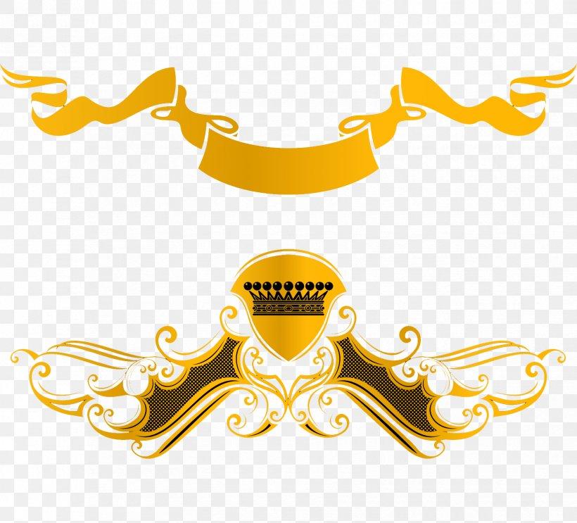 Euclidean Vector Ribbon Clip Art, PNG, 1655x1500px, Logo, Brand, Clip Art, Gold, Illustration Download Free