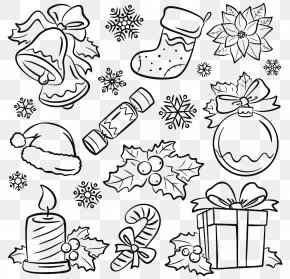 Christmas Drawing Pattern - Santa Claus Christmas Cracker Drawing Illustration PNG