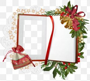 Wind Christmas Frame - Christmas Picture Frame Clip Art PNG