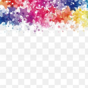 Vector Watercolor And Stars - Watercolor Painting Star PNG