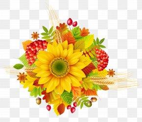 Autumn Decor Clipart Picture - Autumn Flower Clip Art PNG