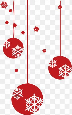 Creative Christmas Ornaments Snowflake Ball New Year - New Year Christmas Ornament Clip Art PNG