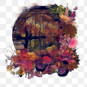 Wreath Still Life Photography - Purple Flower Wreath PNG