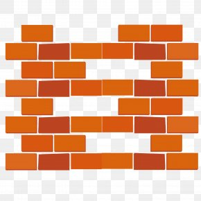 Fine Red Brick Wall - Brick Wall Cladding Panelling Material PNG