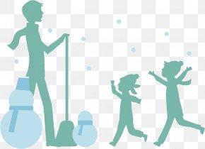 Snowman Child - Snowman Child Clip Art PNG