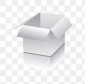 Realistic Three-dimensional Vector White Square Box Open Box - Euclidean Vector Box Computer File PNG