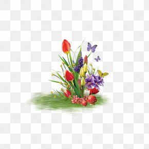 A Bunch Of Tulips Flowers - Quran Month Rajab Ramadan Illustration PNG