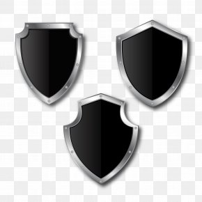 Black Silver Side To Pull The Material Shield Free - Shield Download Computer File PNG