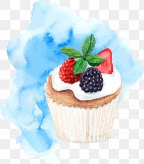 Vector Light Blue Background Cake - Ice Cream Cake Shortcake Dessert PNG