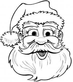 Santa Claus Outline - Santa Claus Drawing Christmas Coloring Book Clip Art PNG
