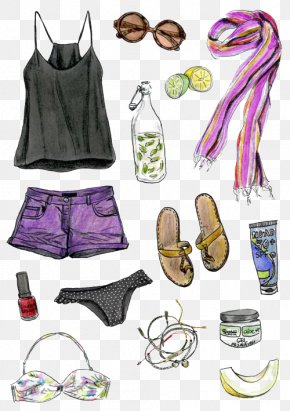 Summer Women With - Fashion Drawing Designer Illustration PNG