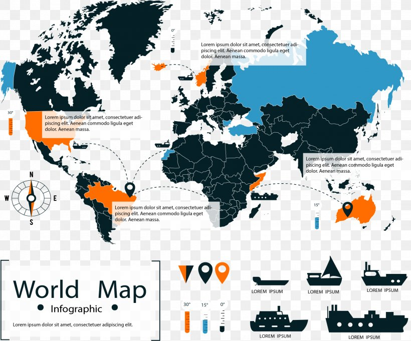 World Map World Map Road Map Atlas, PNG, 2122x1764px, World ...