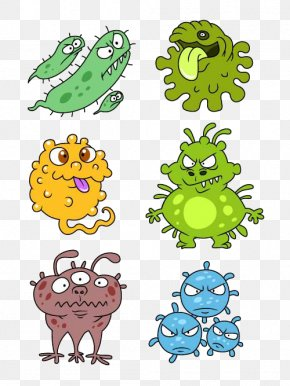 Abstract Cartoon Monster - Cartoon Bacteria Royalty-free Virus PNG