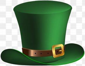 Leprechaun Hat - Hat Leprechaun Saint Patrick's Day Clip Art PNG