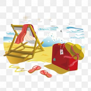 Cartoon Beach - Beach Vacation Summer Euclidean Vector PNG