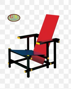 Yellow Blue - Red And Blue Chair Zig-Zag Chair Furniture De Stijl PNG