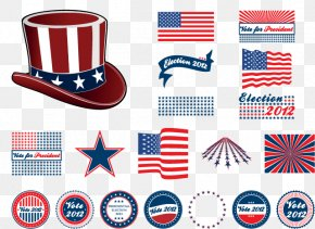 Vector Elements Of The United States - US Presidential Election 2016 President Of The United States Badge PNG