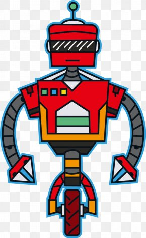 Vector Red Robot - Robot Red Euclidean Vector Illustration PNG