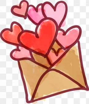 Envelopes Vector Material - Heart Valentines Day Euclidean Vector PNG