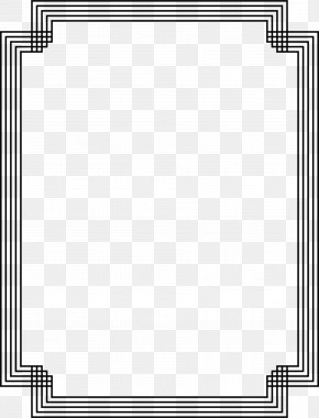 White Border - Black And White Picture Frames Grayscale Clip Art PNG