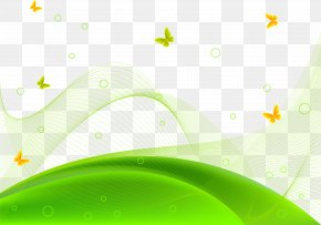 Vector Creative Green Hillside Meadow - Euclidean Vector Wallpaper PNG
