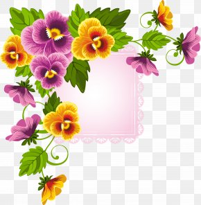 Flower Border - Flower Floral Design Stock Photography PNG