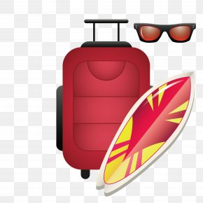 Vector Pattern Material Around The Play Luggage - Surfboard Surfing Clip Art PNG