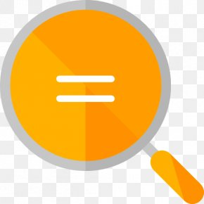 A Yellow Magnifying Glass - Equals Sign Euclidean Vector Icon PNG