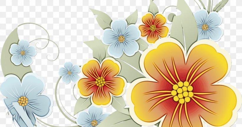 Floral Design Desktop Wallpaper Wildflower Yellow Png 1200x630px