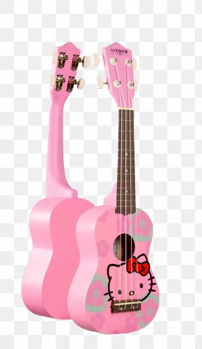 Pink Hello Kitty - Hello Kitty Stratocaster Cat Guitar PNG