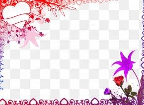 Floral Decoration - Picture Frame Film Frame Photography Clip Art PNG