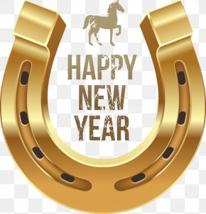 Barn - Horse New Year's Day Wish Clip Art PNG
