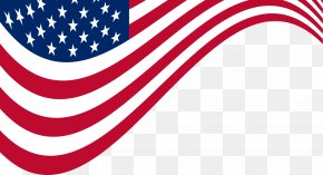 Vector Hand-painted American Flag - United States Labor Day Memorial Day Wish PNG