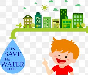Conserve Water - Water Conservation Drop Energy Conservation PNG